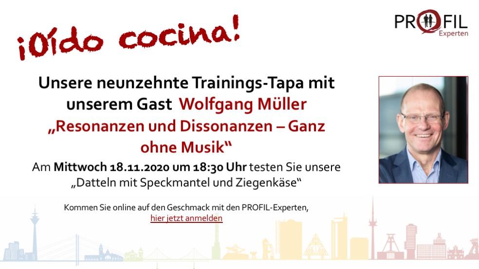 neunzehnte Trainings-Tapa mit Wolfgang Müller